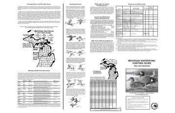 michigan waterfowl hunting guide - Michigan Department of Natural ...