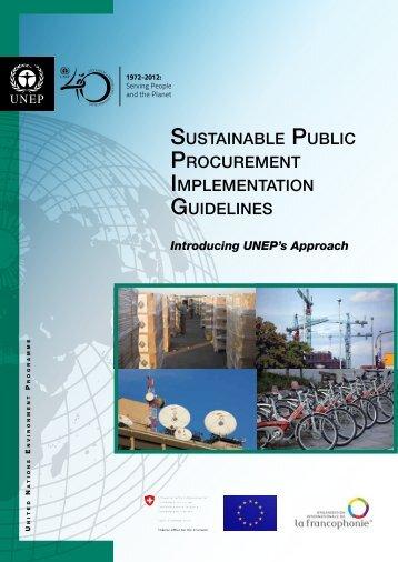 sustainable public procurement implementation guidelines - DTIE
