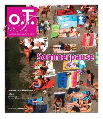 Sommerpause - Das Magazin für Kunst, Architektur und Design