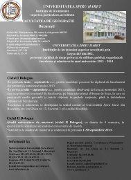 Ciclul I Bologna - Universitatea Spiru Haret