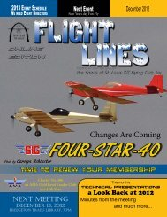 December - Spirits of St. Louis R/C Flying Club