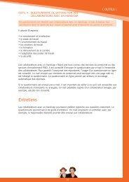 Guide méthodologique - Outil 4 questionnaire satisfaction ... - Fedweb