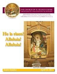 He is risen! Alleluia! Alleluia! - Church of St. Francis Xavier