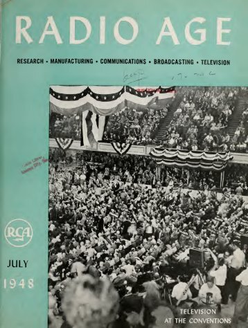 Radio Age - 1948, July - 36 Pages, 3.5 MB, .PDF - VacuumTubeEra