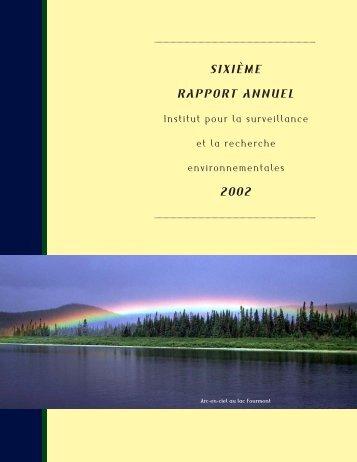 SIXIÈME RAPPORT ANNUEL 2002