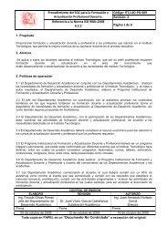 ITCJ-AD-PO-009 PROCEDIMIENTO PARA FORM Y ACT PRO ...