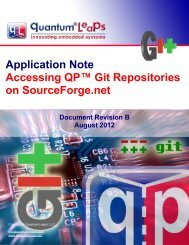 Accessing QP Git Repositories on SourceForge.net - Quantum Leaps
