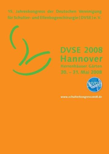 Hannover - DVSE Kongressportal. Deutsche Vereinigung für Schulter