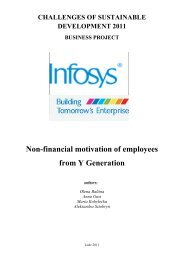 Non-financial motivation of employees from Y Generation - Fundacja ...