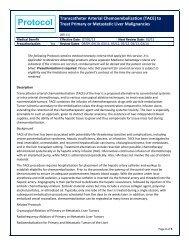 Transcatheter Arterial Chemoembolization (TACE) to Treat Primary ...