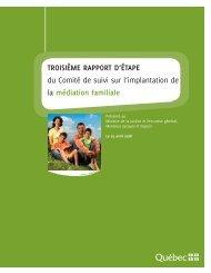 Troisième rapport d'étape du Comité de suivi sur l'implantation de la ...