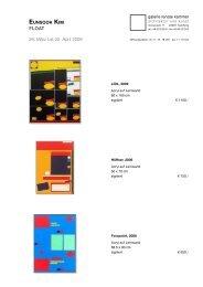 minchul song - Galerie Renate Kammer, Architektur und Kunst