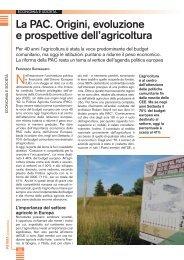 La PAC. Origini, evoluzione e prospettive dell'agricoltura