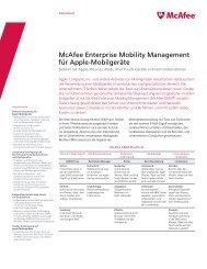 McAfee Enterprise Mobility Management für Apple ... - Omicron