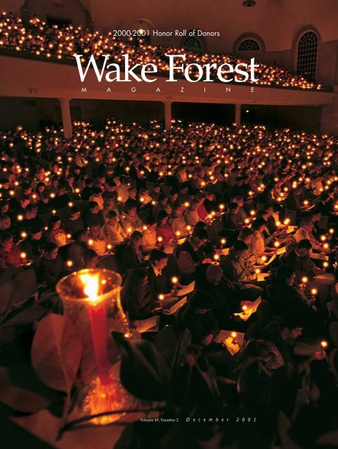 Wake Forest Magazine December 2001 Past Issues Wake