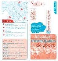 Ecoles de sport municipales - Ville de Nancy