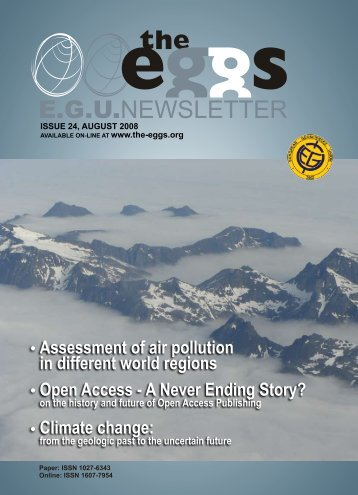 Open Access - A Never Ending Story? - European Geosciences Union
