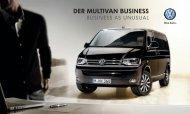 Katalog zum Multivan Business - Volkswagen Nutzfahrzeuge