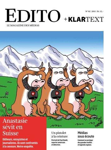 Anastasie sévit en Suisse - Edito + Klartext