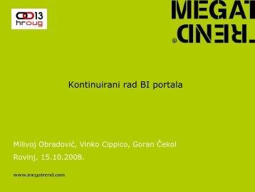 506_Obradović & Kontinuirani rad BI portala.pdf - HrOUG