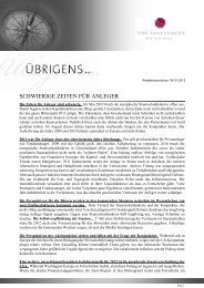 Newsletter vom 29. Februar 2012 - TOP-Investment GmbH