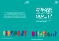 Improving outcomes, ensuring quality: a guide for - NHS North West