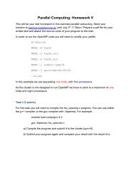 Parallel Computing: Homework V