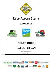 Streckenprofil Hobbyklasse 1, Durchschnitt 28 km/h