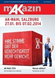 AK-WAhl sAlzburg 27.01. bis 07.02.2014 - Arbeiterkammer