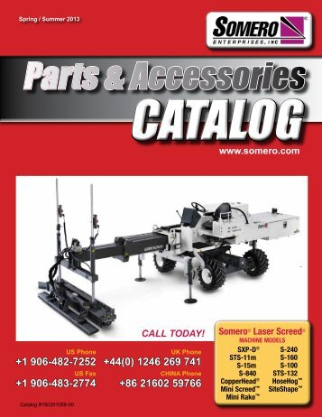 2013 Somero Parts & Accessories Catalog - Somero Enterprises