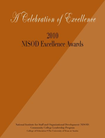 2010 NISOD Excellence Awards