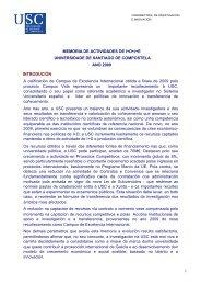 1 MEMORIA DE ACTIVIDADES DE I+D+i+E UNIVERSIDADE DE ...