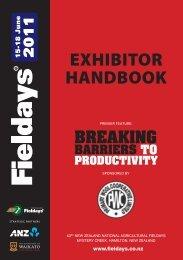 exhibitor handbook - New Zealand National Agricultural Fieldays