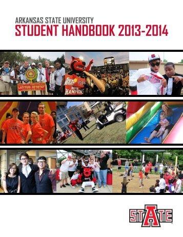 arkansas state university student handbook 2013-2014