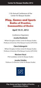 Play, Games and Sport: - Center for Basque Studies - University of ... - Page 3