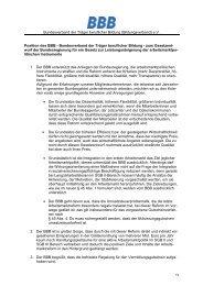 Position des BBB - Bundesverband der Träger beruflicher Bildung