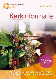 Kerstfeest 2011 - Protestantse Kerk in Nederland