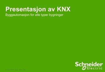 KNX styringssystem presentasjon - Schneider Electric