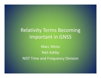View presentation (426 KB PDF) - GPS.gov