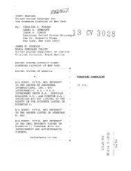 US vs Cartagena et al. Forfeiture Complaint - Frank-CS.org