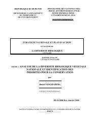 theme : analyse de la diversite biologique vegetale nationale et ...