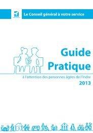 Téléchargez le guide pratique 2013 - Conseil général de l'Indre