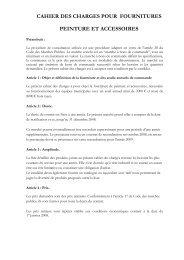 cahier des charges pour fournitures peinture et accessoires - Lormont