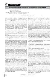 Trastorno por déficit de atención con/sin hiperactividad (TDAH)