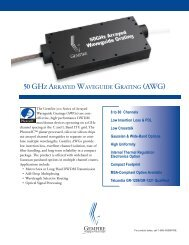 50 GHz ArrAyed WAVEGUIDE GRATING (AWG) - AMS Technologies