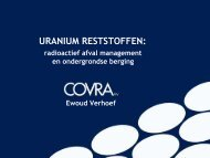radioactief afval >>>> COVRA