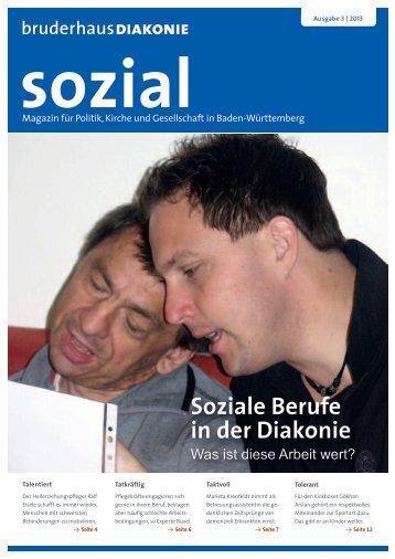 Soziale Berufe in der Diakonie - jung und sozial