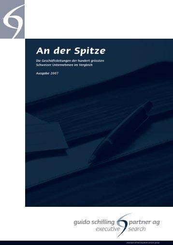 An der Spitze - Guido Schilling AG