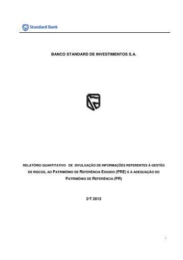 banco standard de investimentos sa 2ºt 2012 - Standard Bank