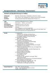 Aufmaß und Bauabrechnung im Tiefbau Managementbereich ...